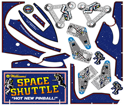 Pinball Decals, Inc. - Space Shuttle Parts