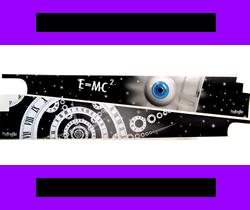 Ultimate TWILIGHT ZONE Pinball Spiral Vortex Inner Cabinet /& Backboard Decal Mod